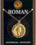 Roman Gold Coin Flan Pendant Gold Plated