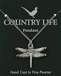 Dragonfly Pendant - Pewter