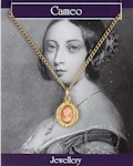 Miniature Cameo Necklace - Gold Plated