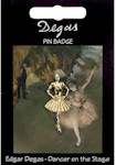 Degas Dancer Pin Badge - Gold Plated