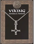 Dragon Head Cross Amulet Pendant Pewter on Chain