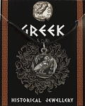 Greek Coin Pendant - Pewter