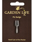 Hand Fork Pin Badge - Pewter