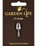 Hand Trowel Pin Badge - Pewter
