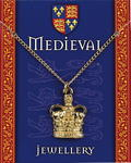 Heraldic Crown Pendant - Gold Plated