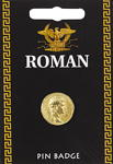 Roman Gold Coin Pin Badge