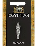 Egyptian Mummy Pin Badge - Pewter