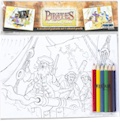 Pirate Educational Colouring Postcards