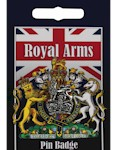 Royal Arms Crown Pin Badge - Pewter