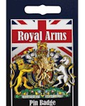 Royal Arms Lion Pin Badge - Gold Plated