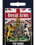 Royal Arms Lion Pin Badge - Pewter