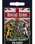 Royal Arms Unicorn Pin Badge - Pewter