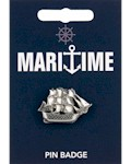 Tall Ship Pin Badge - Pewter