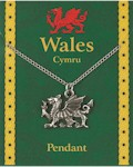 Welsh Dragon Pendant - Pewter